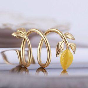 Tory Burch Spiral Lemon Ring